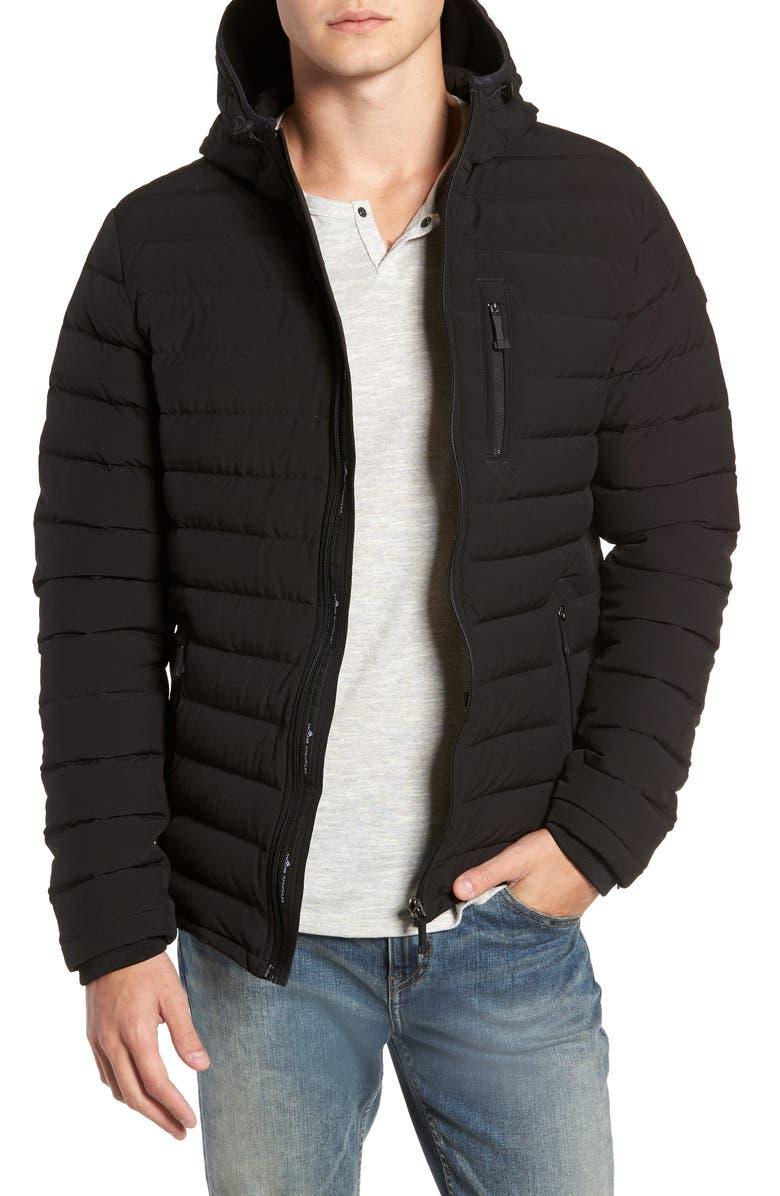 MOOSE KNUCKLES Fullcrest Quilted Down Jacket, Main, color, BLACK