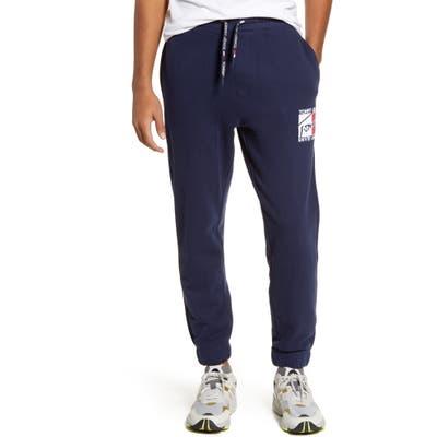 Tommy Jeans Tjm Essential Logo Applique Sweatpants, Blue