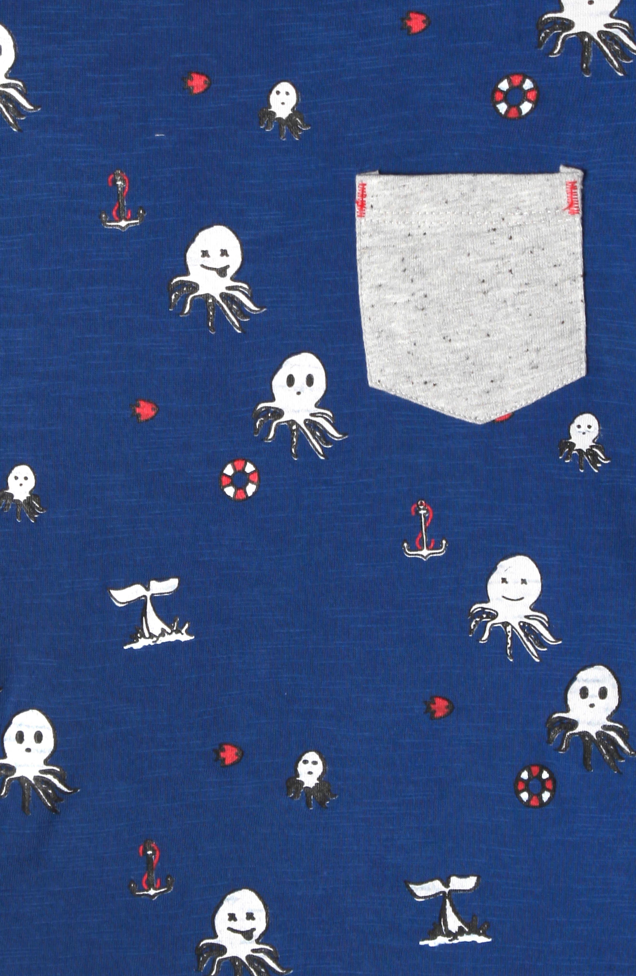 ,                             Lucas Octopus Print T-Shirt,                             Alternate thumbnail 3, color,                             OCTOPUS PRINT