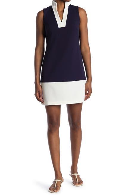 Image of Eliza J Sleeveless Colorblock Shift Dress