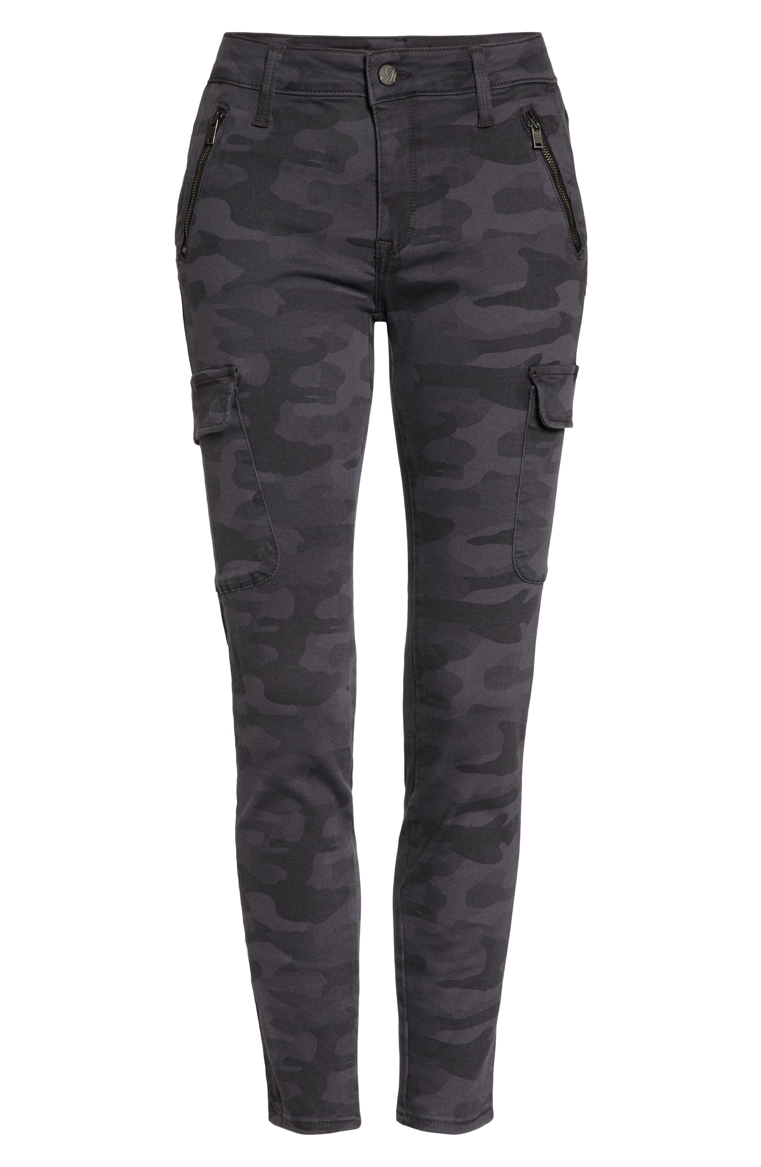 ,                             Juliette Camo Skinny Cargo Pants,                             Alternate thumbnail 5, color,                             020