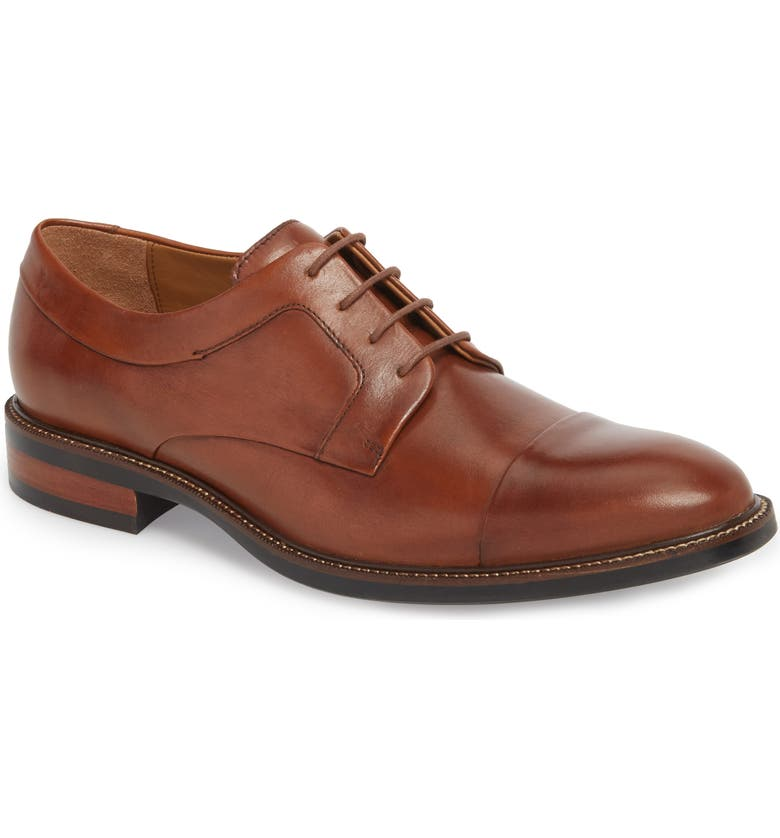 COLE HAAN Warren Cap Toe Derby, Main, color, BRITISH TAN LEATHER