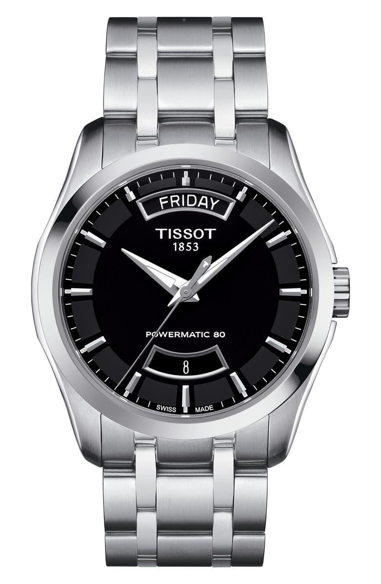 TISSOT Couturier Automatic Bracelet Watch, 39mm, Main, color, 040