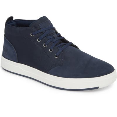 Timberland Davis Square Mid Top Chukka Sneaker- Blue