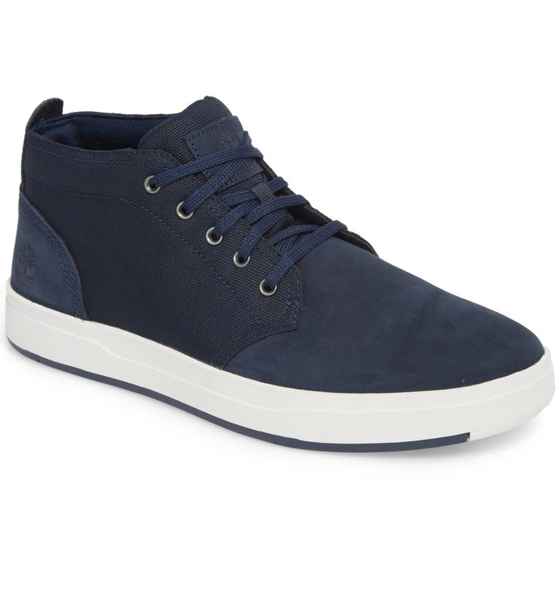 TIMBERLAND Davis Square Mid Top Chukka Sneaker, Main, color, BLACK/ BLUE