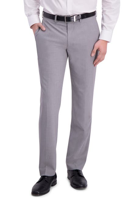 Image of Louis Raphael Solid Flat Front Slim Fit Suit Separate Pants