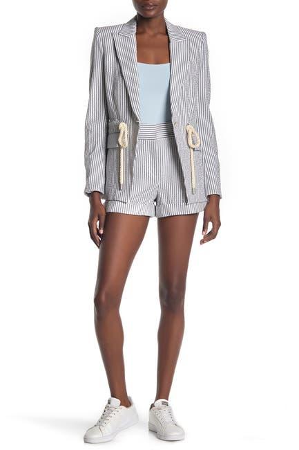 Image of VERONICA BEARD Carito Stripe Shorts