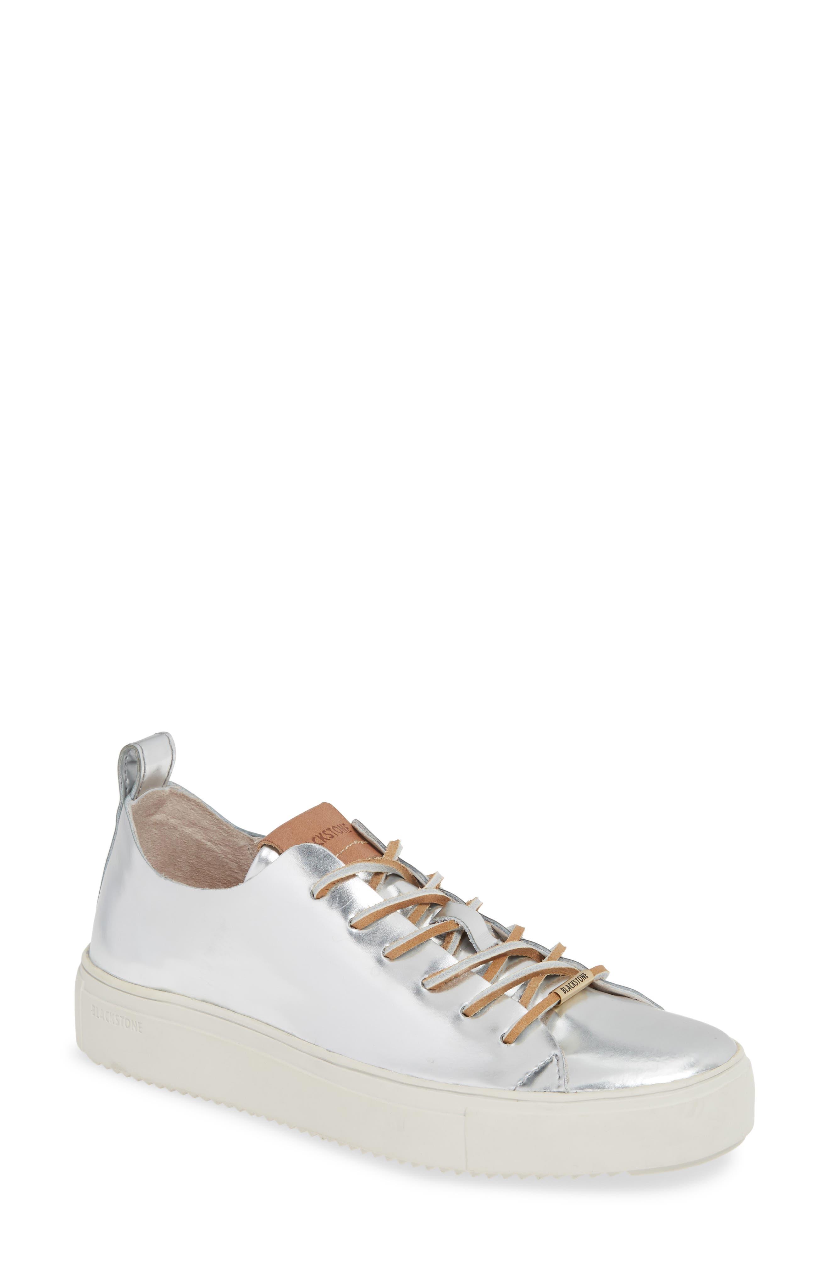 Blackstone Rl69 Metallic Mid Top Sneaker, Metallic