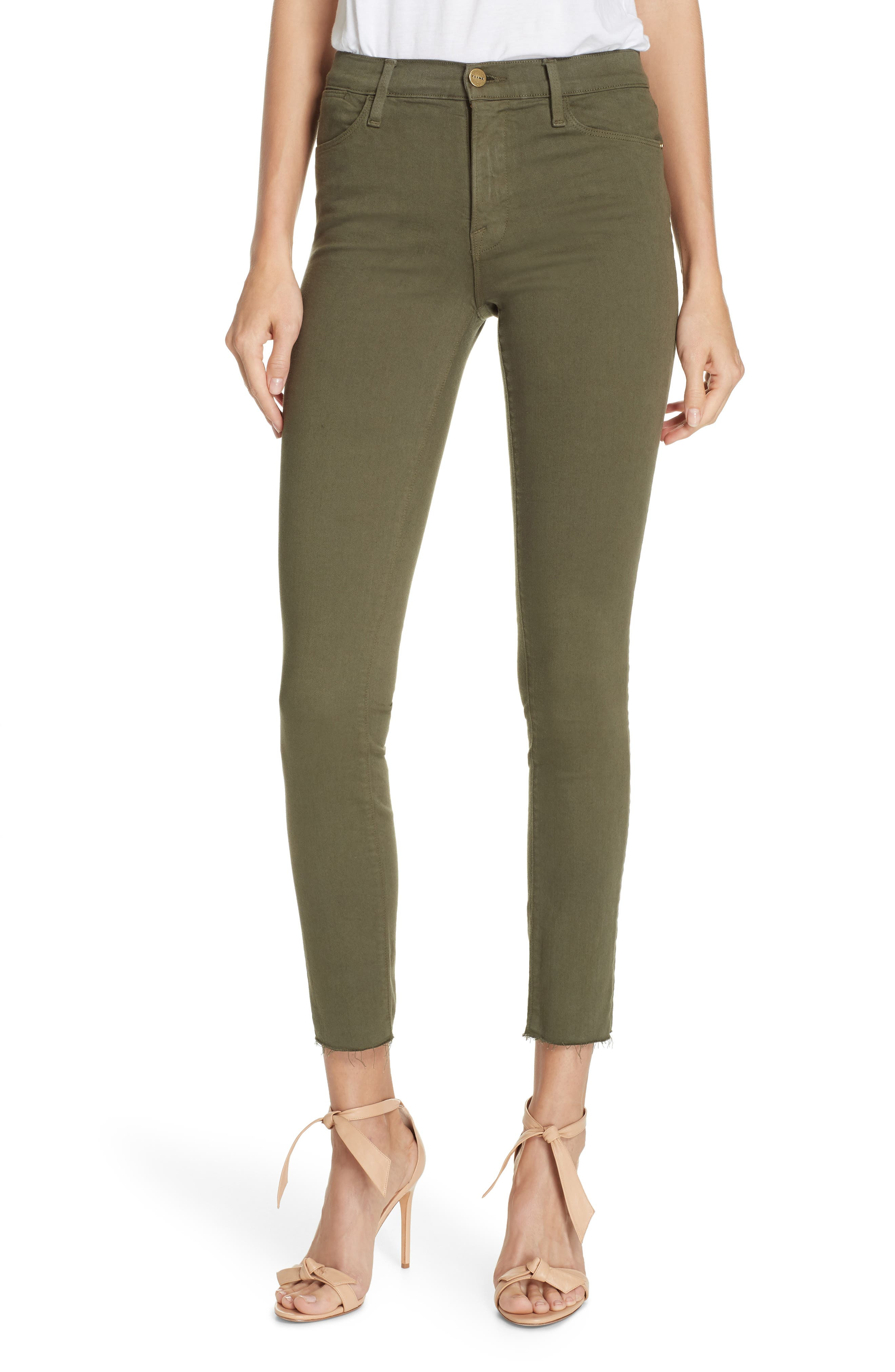 ,                             Le High Raw Hem Ankle Skinny Jeans,                             Main thumbnail 14, color,                             301