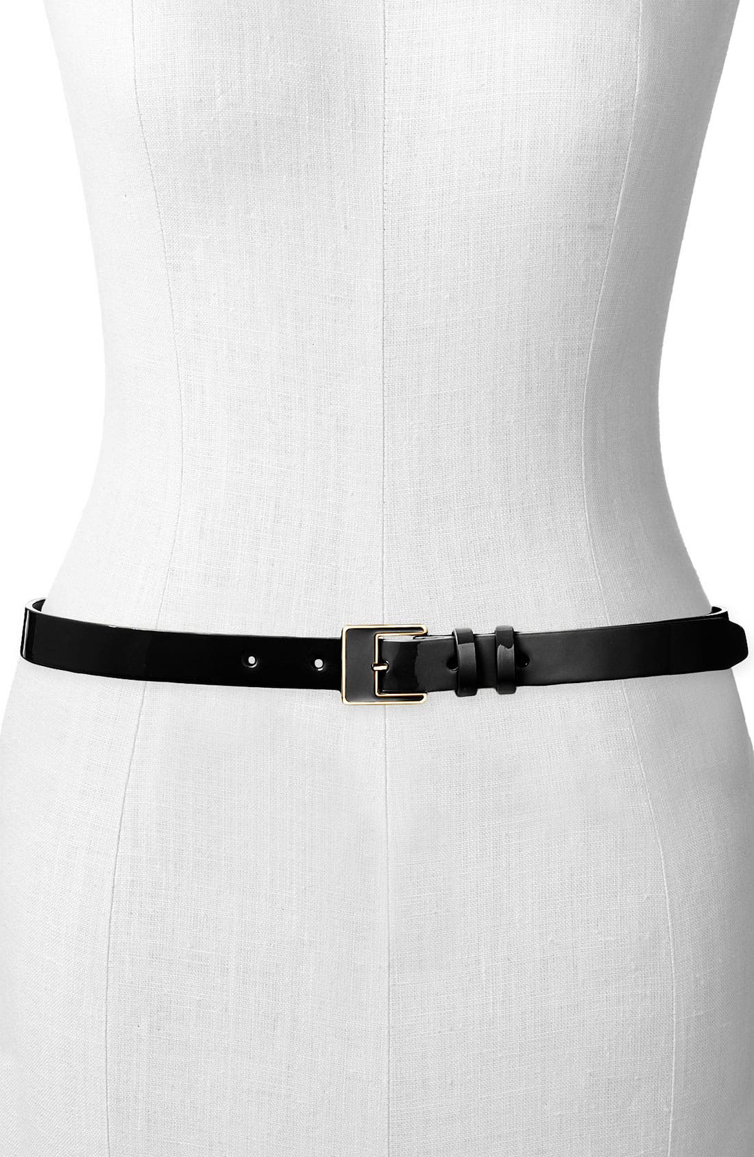 Patent Leather Belt, Main, color, 001