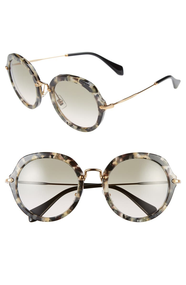 MIU MIU 54mm Retro Sunglasses, Main, color, 200