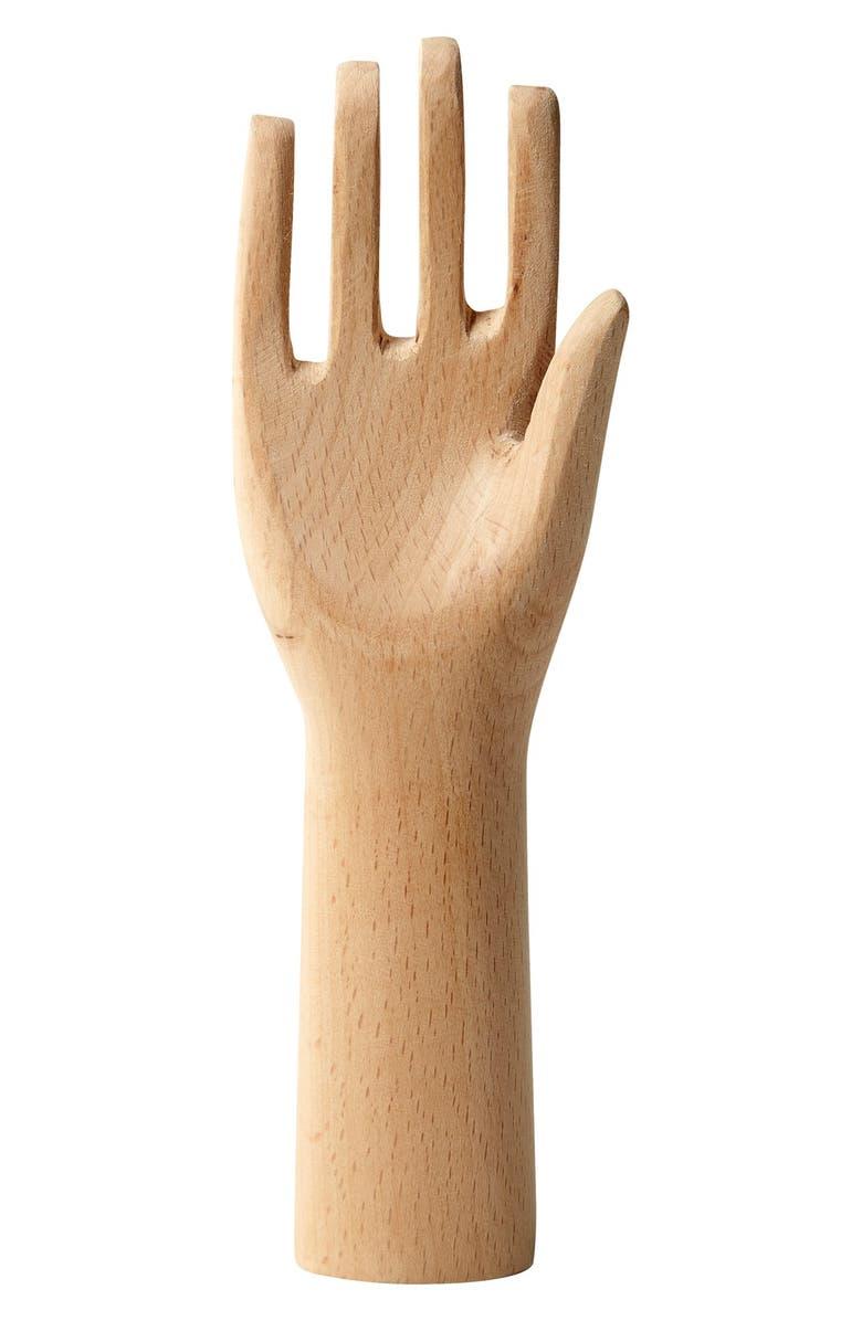 HAY 'Ad Manum - Small' Decorative Beech Wood Hand, Main, color, 251