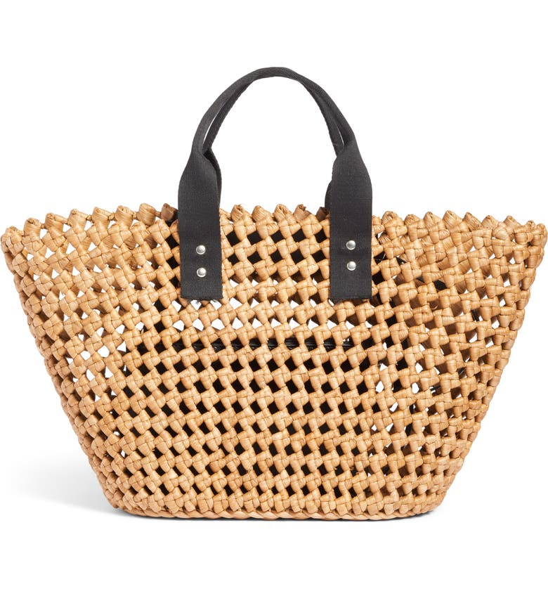NORDSTROM Open Weave Straw Tote, Main, color, NATURAL