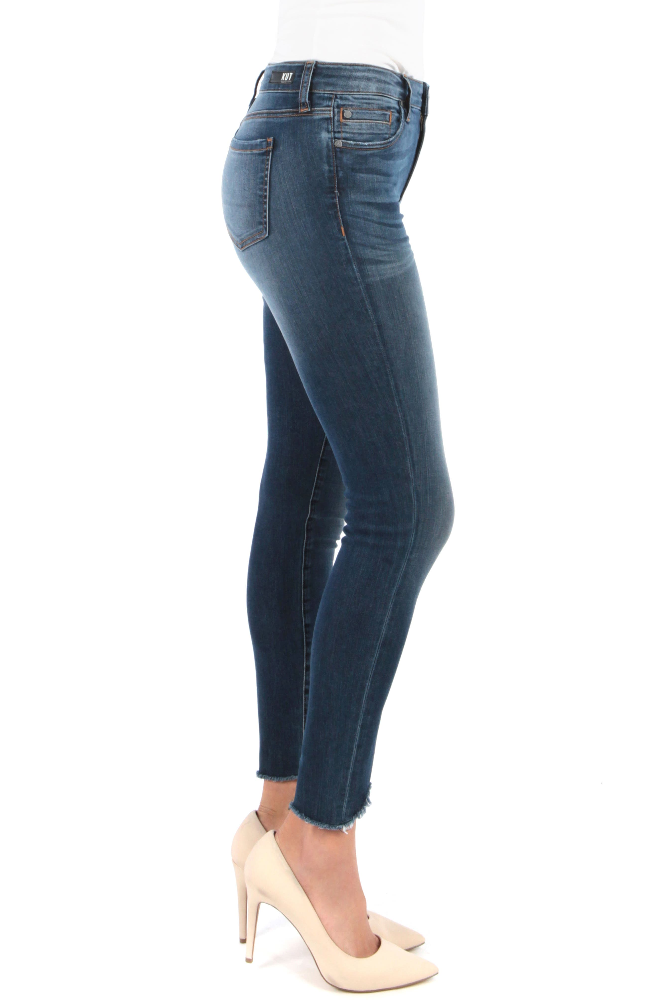 ,                             Connie Ankle Skinny Jeans,                             Alternate thumbnail 3, color,                             BEHAVE