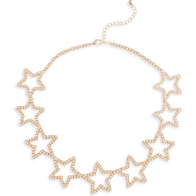 Stella + Ruby Lucky Star Imitation Pearl Necklace