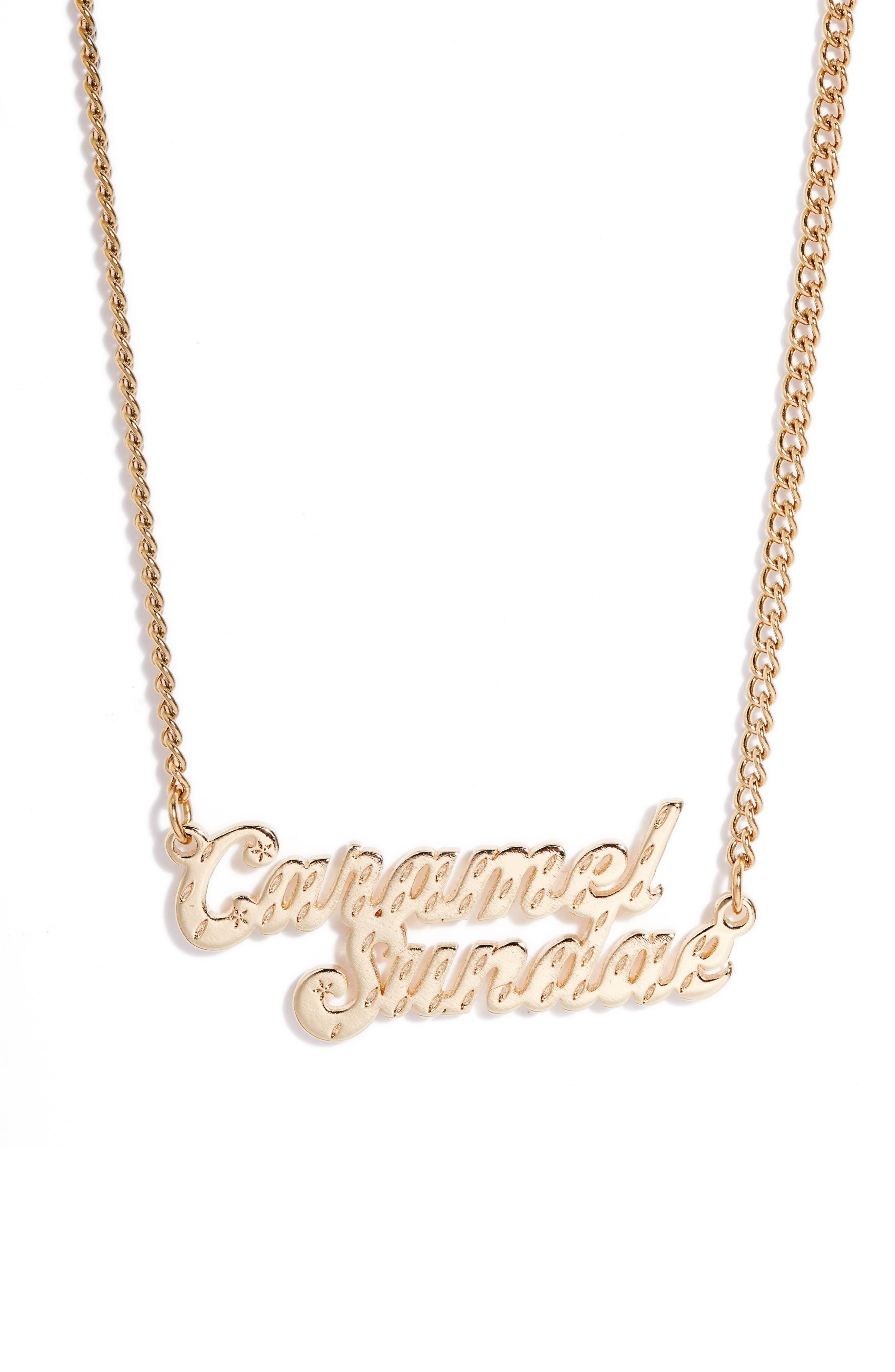 Caramel Sunday Ice Cream Necklace