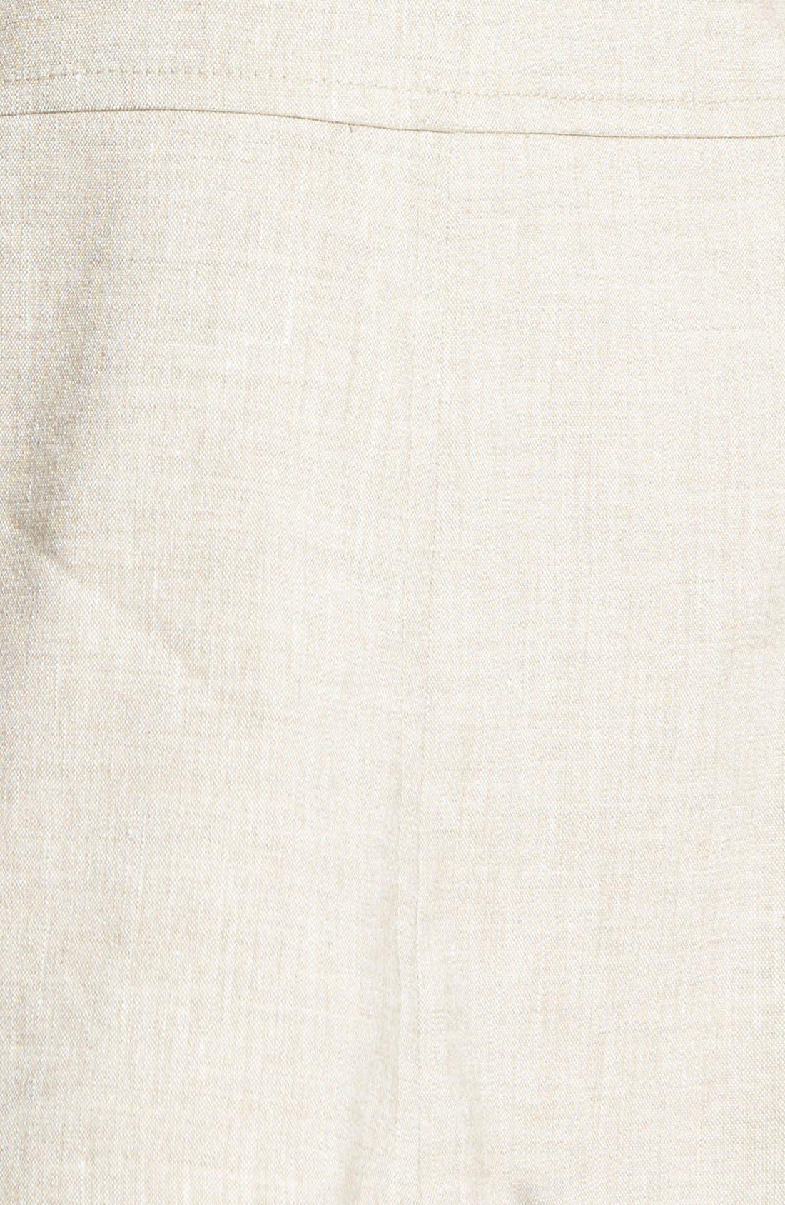 ,                             Seamed Back Linen Blend Blazer,                             Alternate thumbnail 6, color,                             250