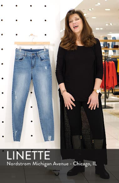 Distressed High Waist Skinny Jeans, sales video thumbnail