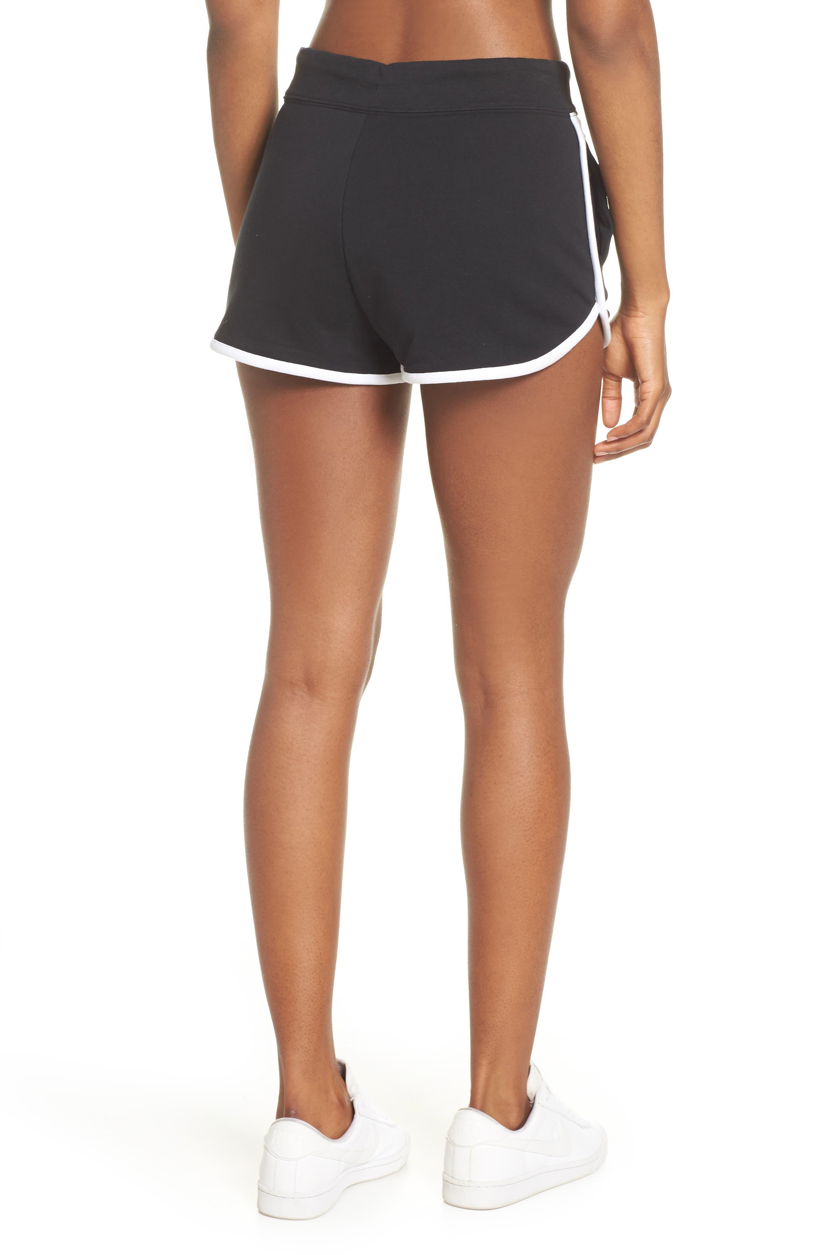 ,                             Sportswear Heritage Fleece Shorts,                             Alternate thumbnail 2, color,                             BLACK/ WHITE/ WHITE