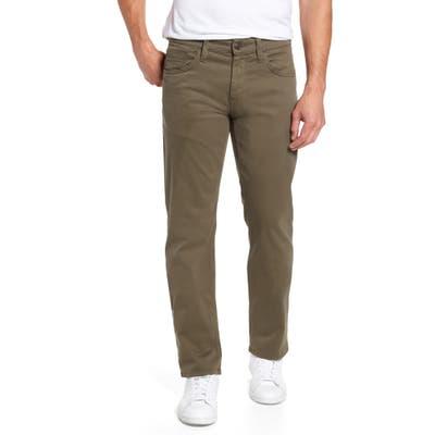 Mavi Jeans Zach Straight Leg Twill Pants, Green