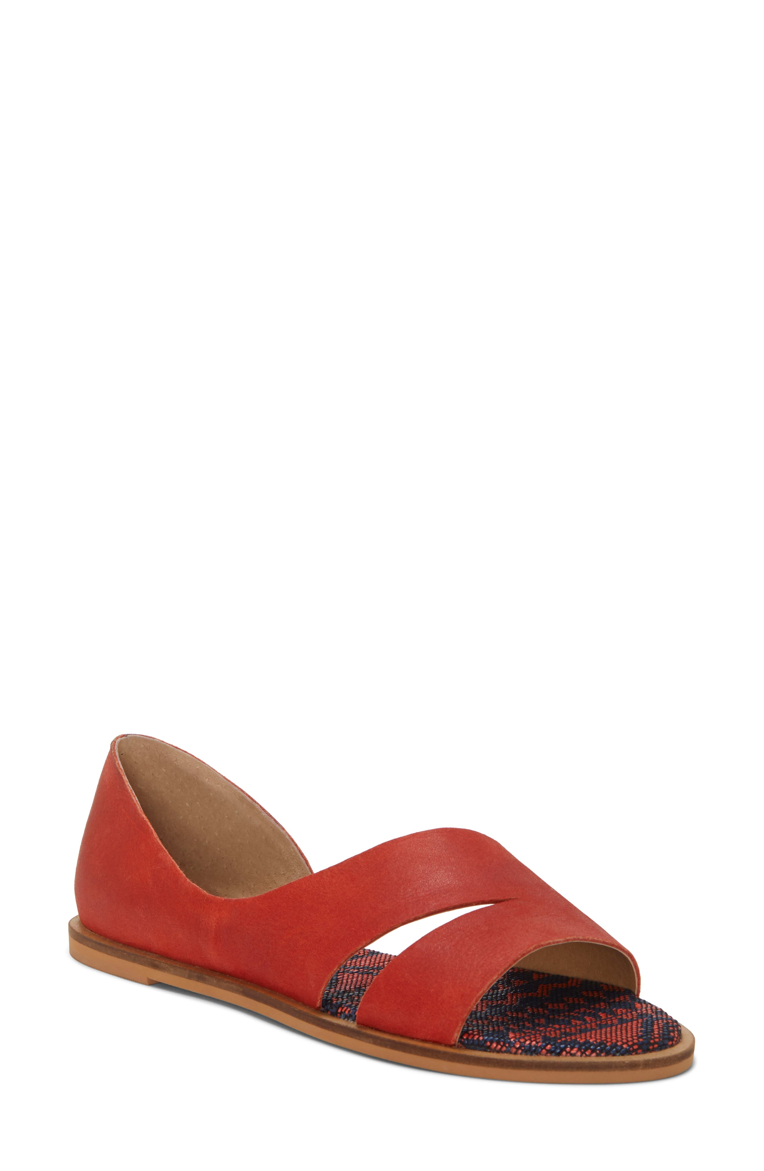 Lucky Brand Felicitas Flat Sandal- Brown