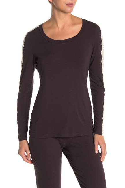 Image of Cosabella Sonia Lace Trim Knit Top