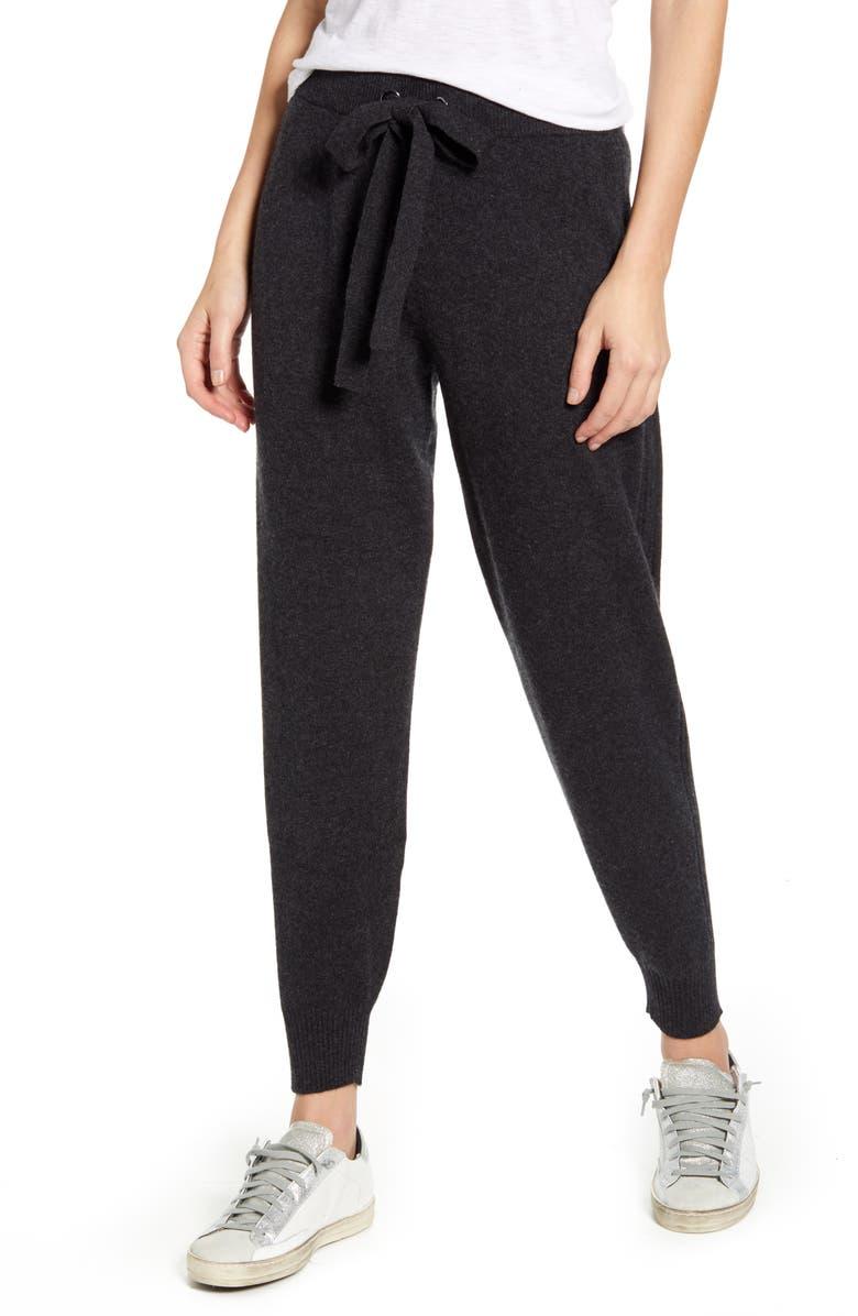 SPLENDID Aurora Cashmere Jogger Pants, Main, color, HEATHER CHARCOAL