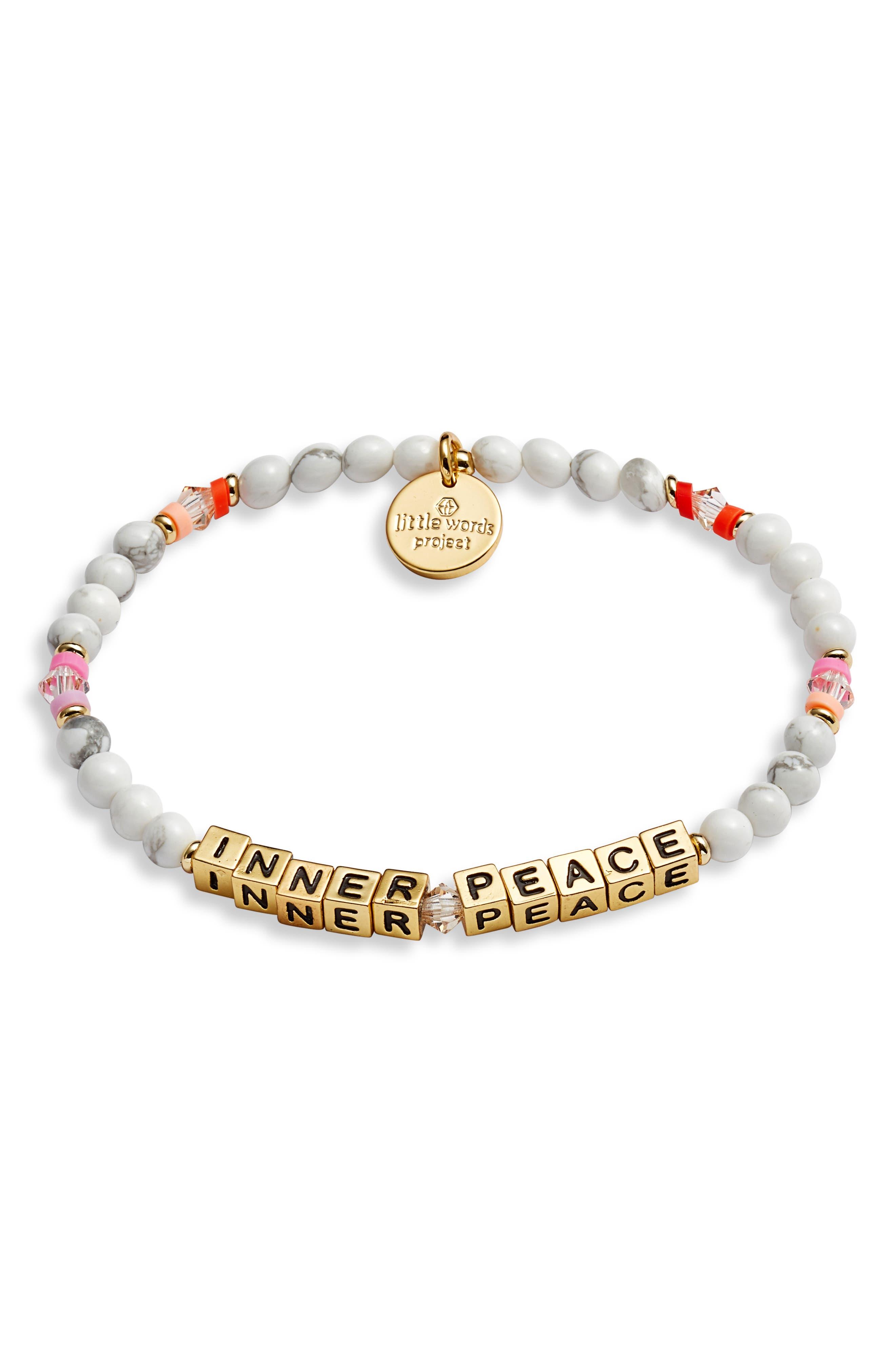 Inner Peace Beaded Stretch Bracelet