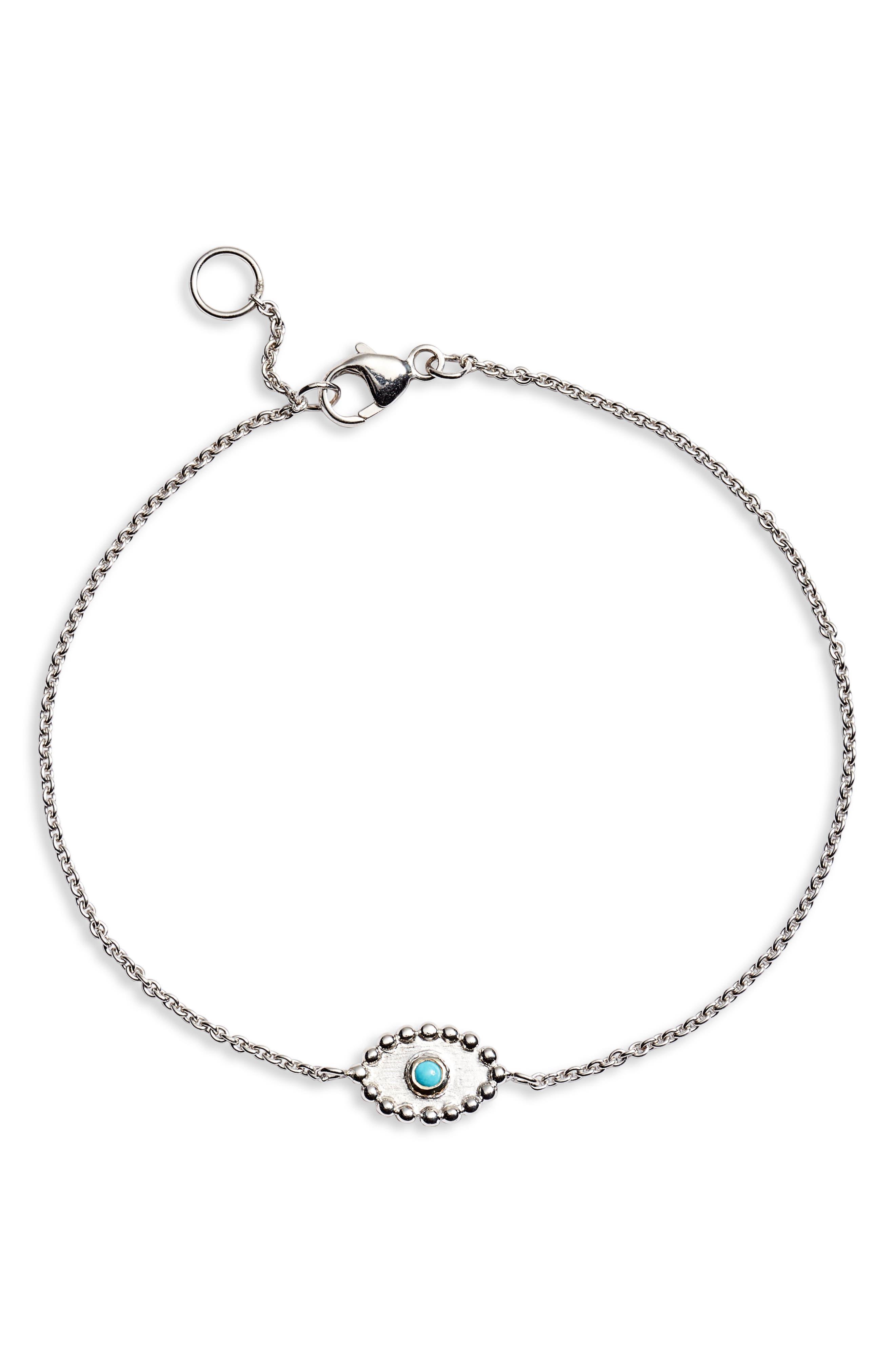 Dew Drop Turquoise Evil Eye Bracelet