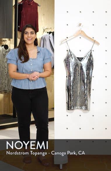 Foil Sequin Minidress, sales video thumbnail