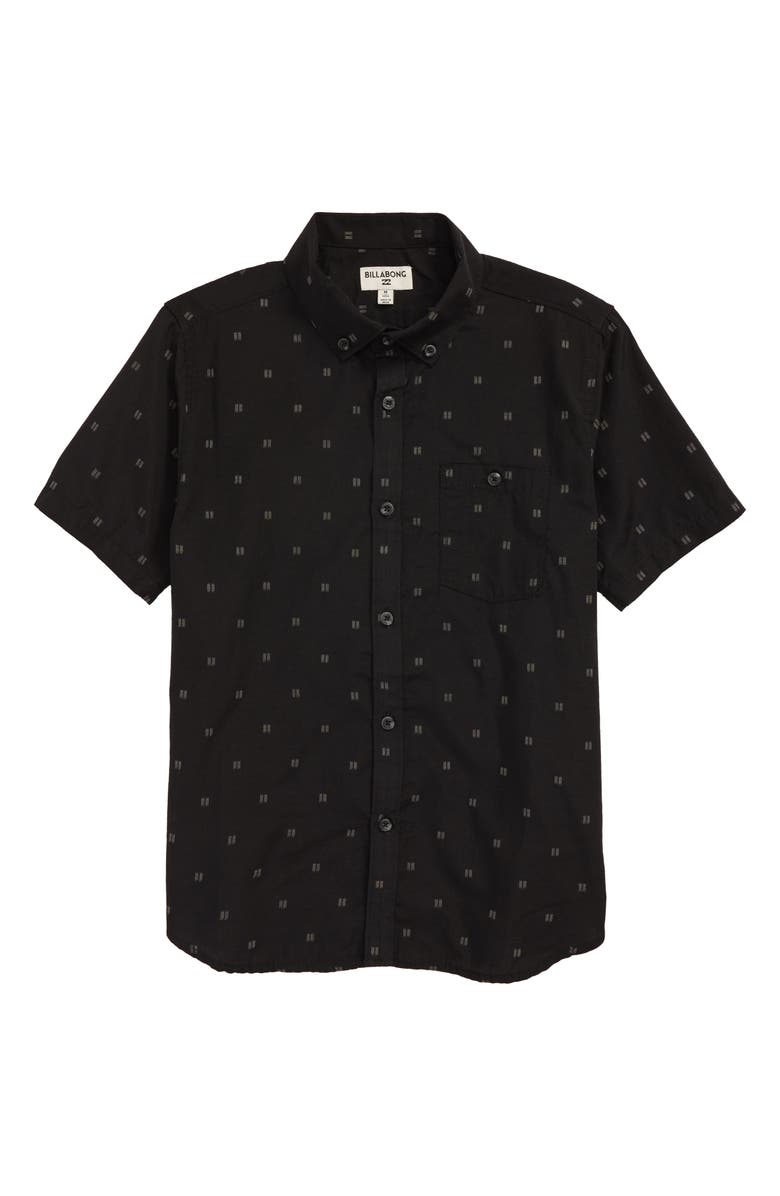 BILLABONG All Day Jacquard Woven Shirt, Main, color, BLACK