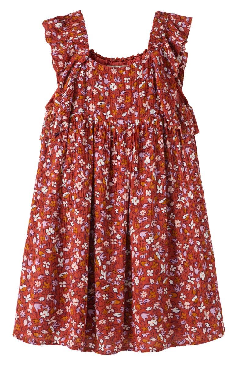 PEEK AREN'T YOU CURIOUS Floral Print Crinkle Sundress, Main, color, PRINT