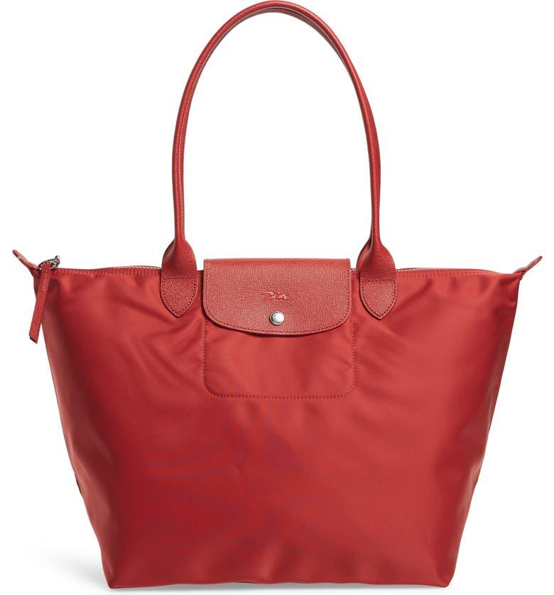 LONGCHAMP 'Large Le Pliage Neo' Nylon Tote, Main, color, RED