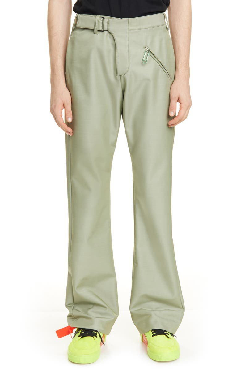OFF-WHITE Contour Tailored Pants, Main, color, OLIVA