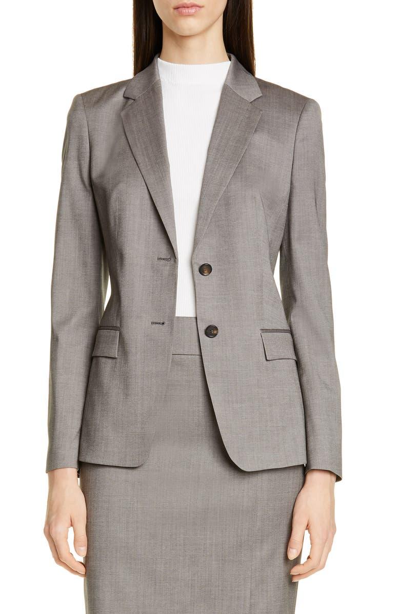 BOSS Jasuala Wool Suit Jacket, Main, color, 021