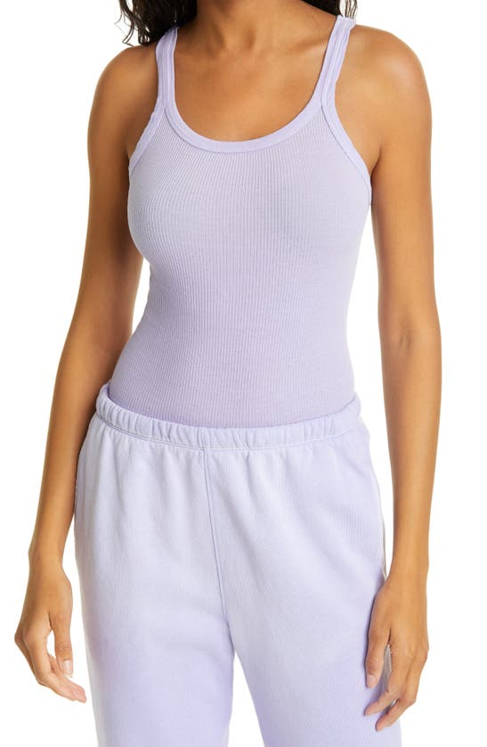 Re/done Downs RIBBED TANK TOP