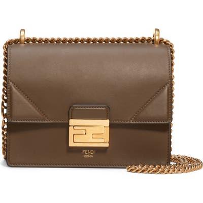 Fendi Small Kan U Leather Shoulder Bag - Brown