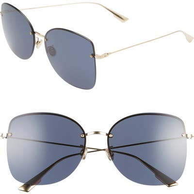 Dior Stell 62Mm Special Fit Oversize Rimless Sunglasses - Gold/ Blue Avio