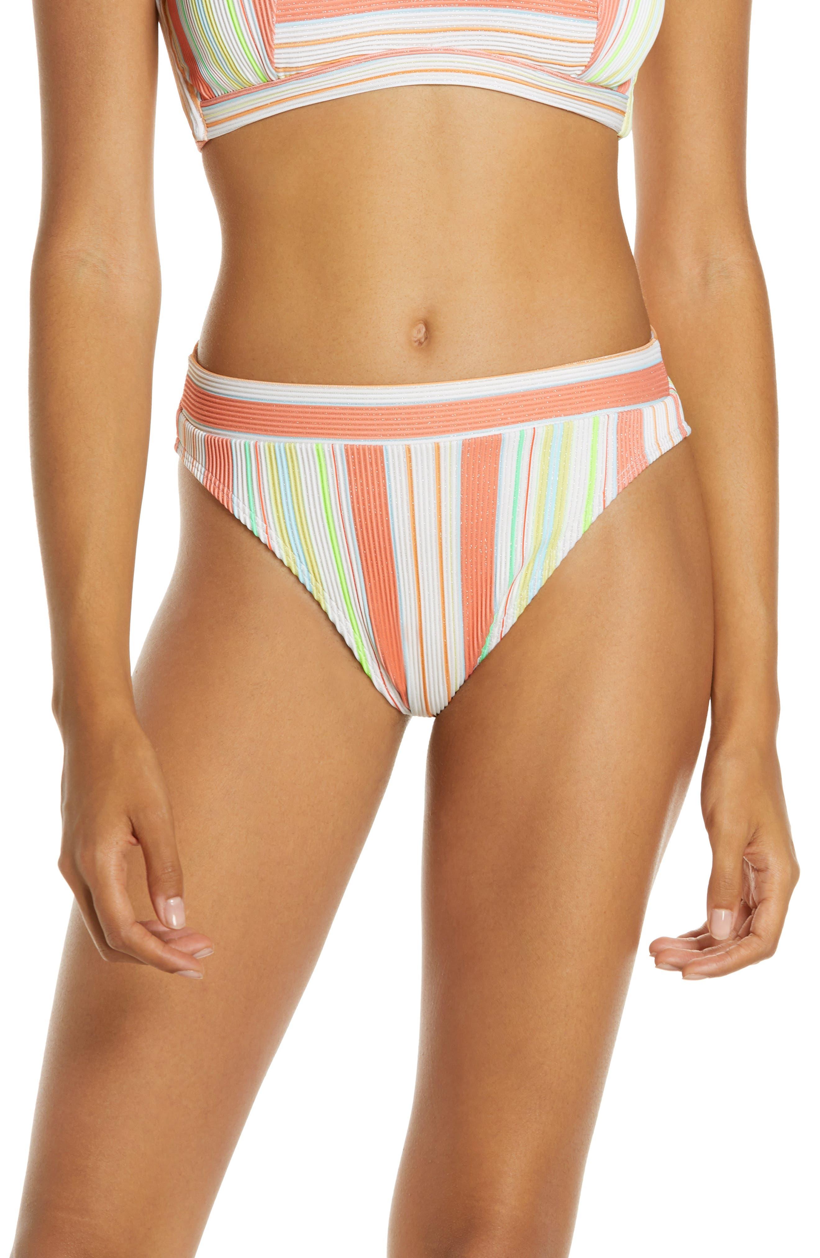 Luli Fama Playtime Bikini Bottoms, White