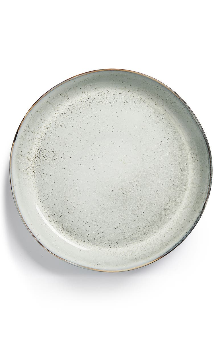 SAGAFORM Reactive Glaze Serving Platter, Main, color, GRAY