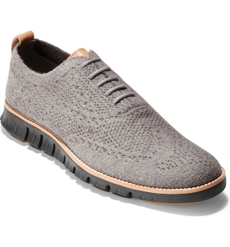 COLE HAAN ZeroGrand Stitchlite<sup>™</sup> Water Resistant Wool Oxford, Main, color, IRONSTONE WOOL/ BLACK