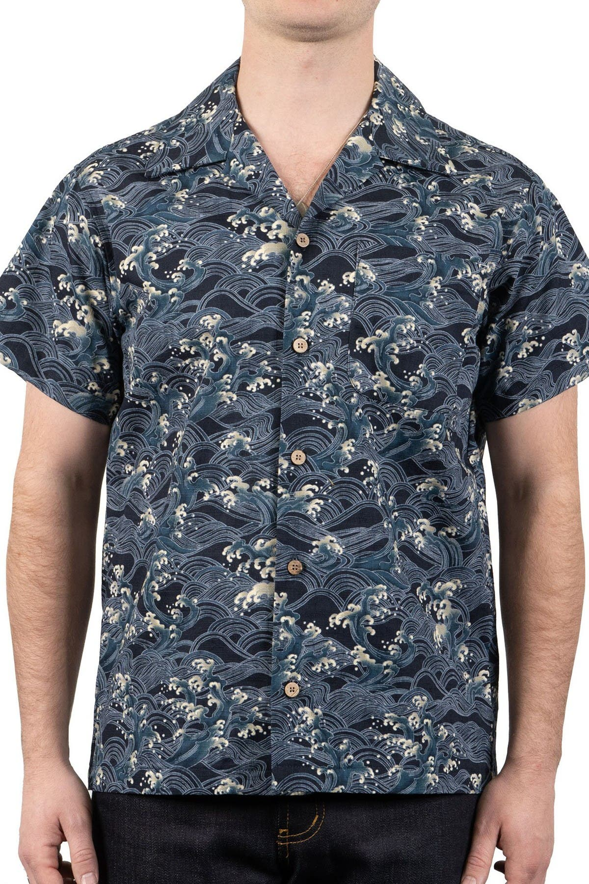 Image of Naked and Famous Aloha Shirt - Japanese Waves
