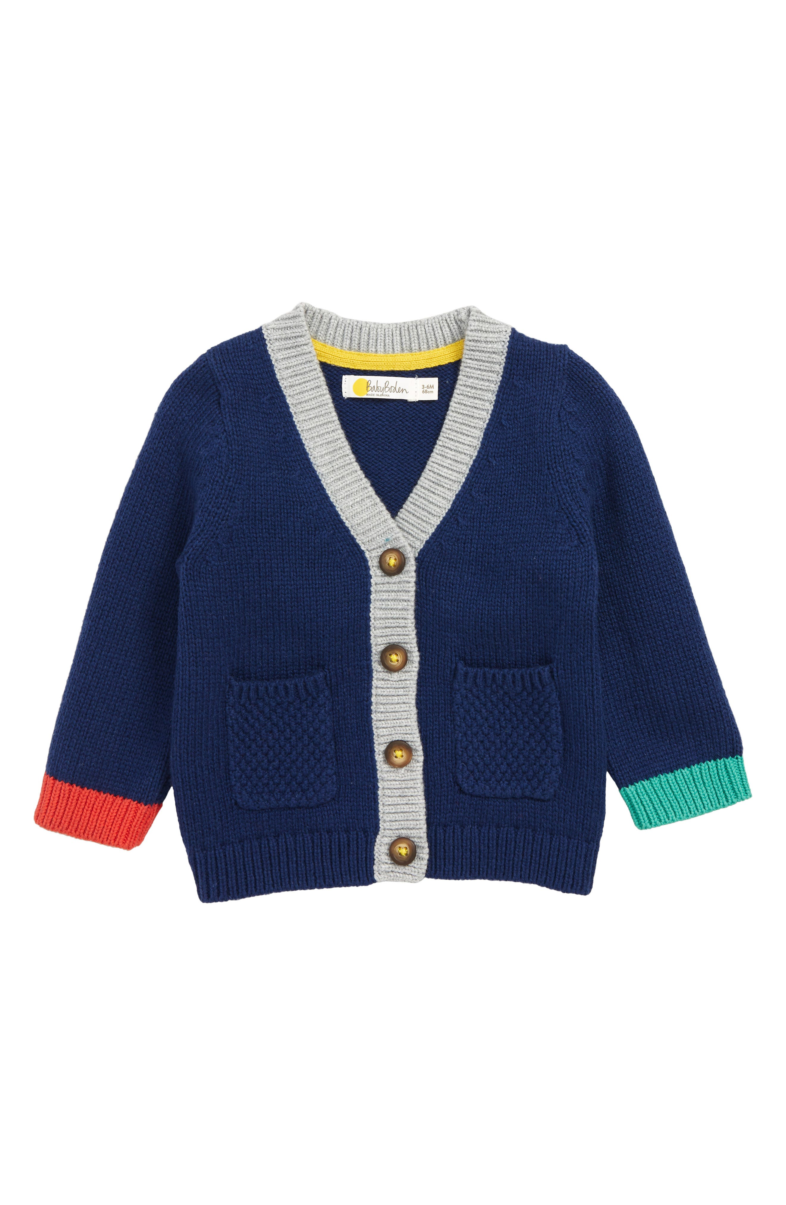 Toddler Boys Mini Boden Fun Cardigan Size 34Y  Blue