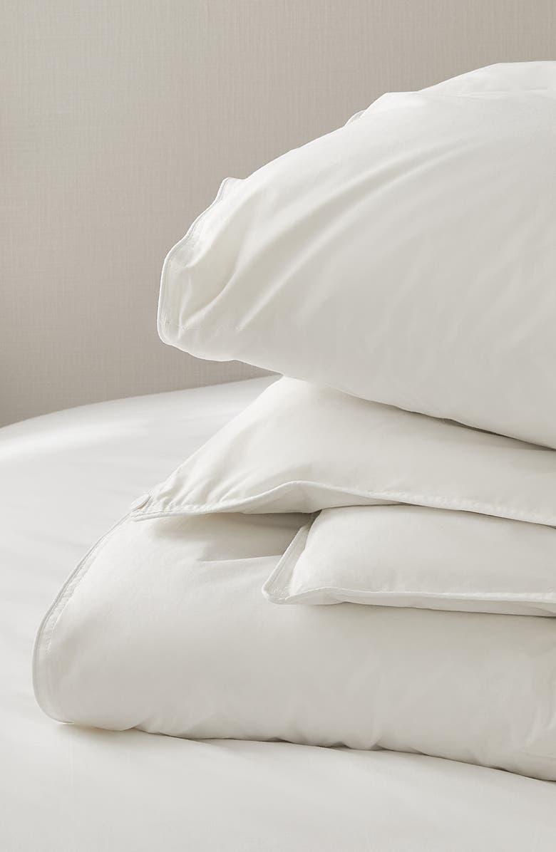 THE WHITE COMPANY The White Comfort Deluxe Ultra Comfort Down Alternative Comforter, Main, color, WHITE