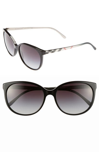 Burberry Sunglasses 'SPARK' 55MM SUNGLASSES - BLACK