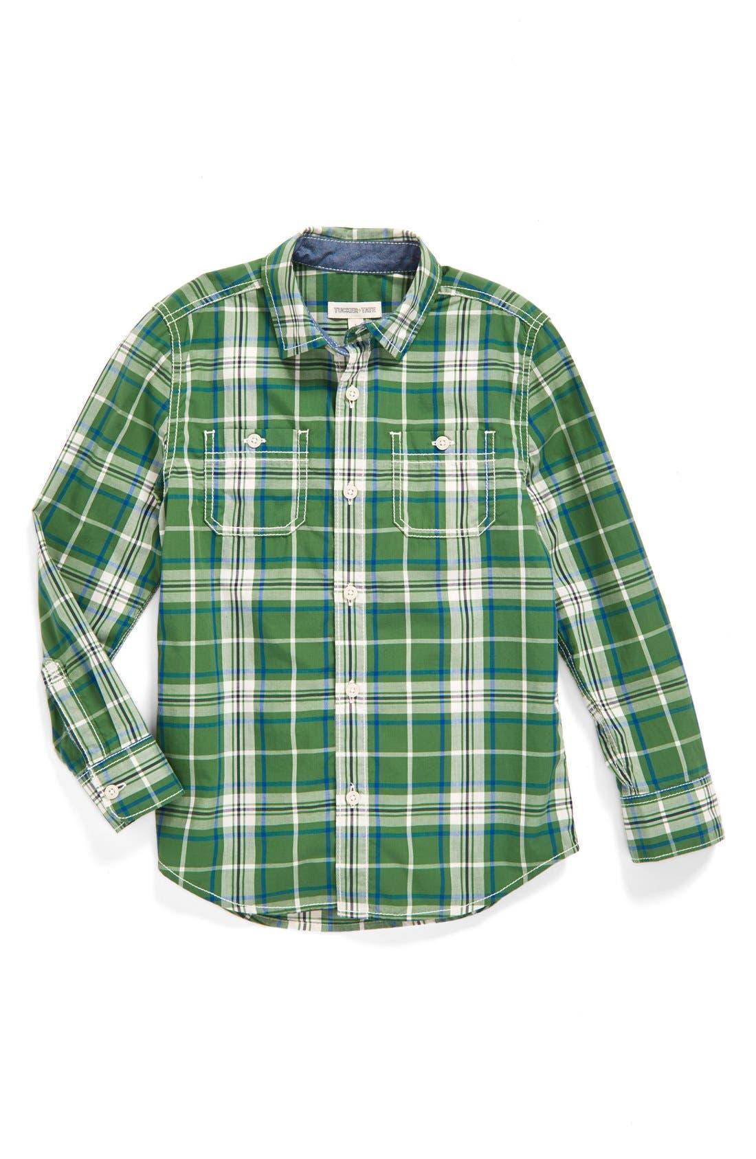,                             'Photo' Buffalo Plaid Woven Shirt,                             Main thumbnail 17, color,                             301