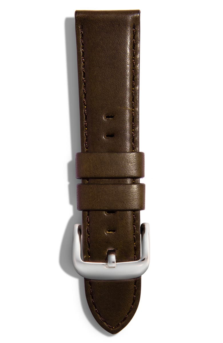 Shinola 18mm Leather Strap