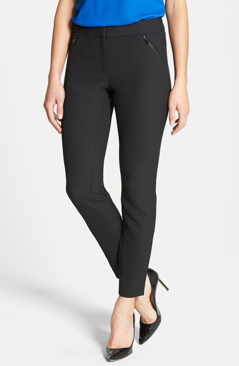 CLASSIQUES ENTIER<SUP>®</SUP> 'City Weave' Zip Pocket Pants, Main, color, 001