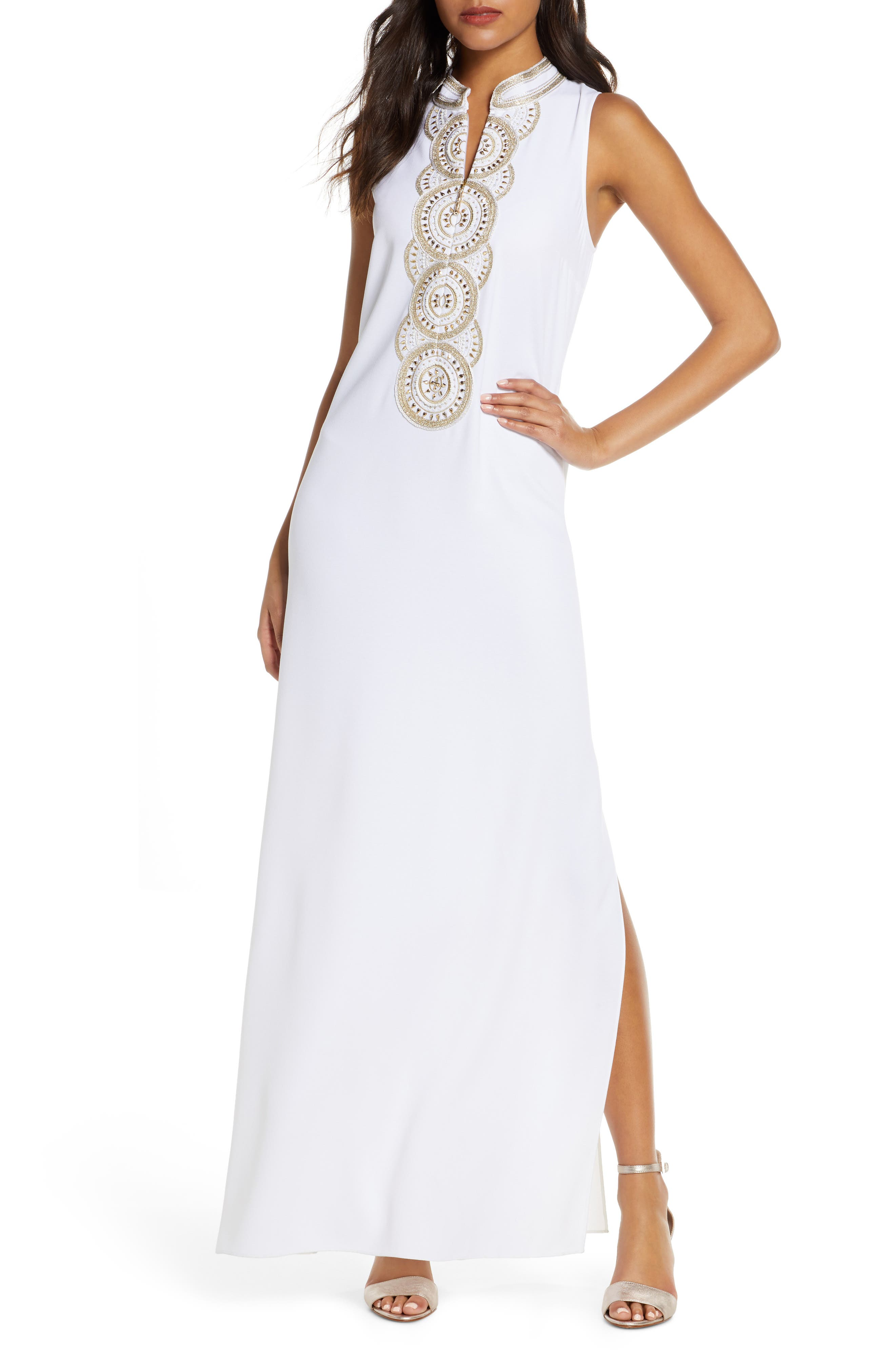 Lilly Pulitzer Jane Embroidered Dress, White