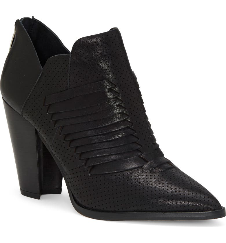 VINCE CAMUTO Levana Bootie, Main, color, BLACK LEATHER